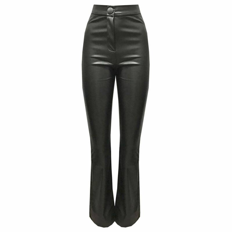 leatherlook flair pants (stretch)