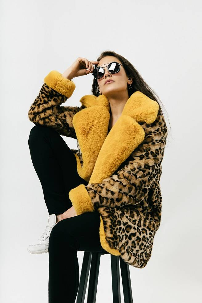 leopard fake fur jas