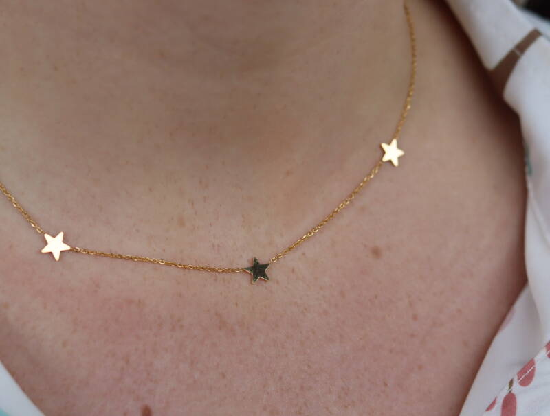 Neclace- gold with stars