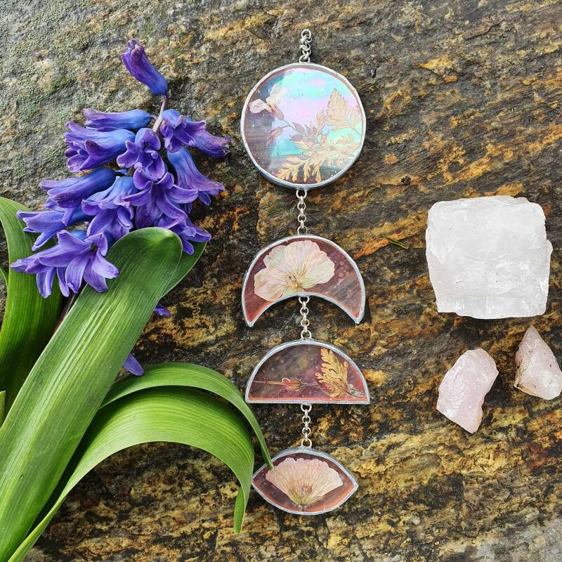 Soft pink earth - iridescent moonphase 1/3