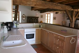 american kitchen, open to the living and dining room