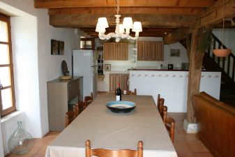 open kitchen (view from the dining table)