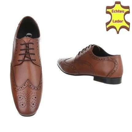 Brown leader shoes