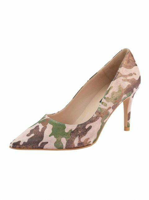 LEATHER PUMPS, COLORFUL METALLIC FROM ZINDA