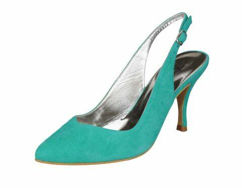 LEREN SLING PUMPS, AQUA BY H ****