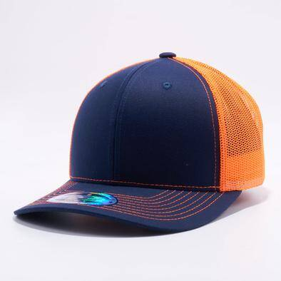 Trucker orange, blue