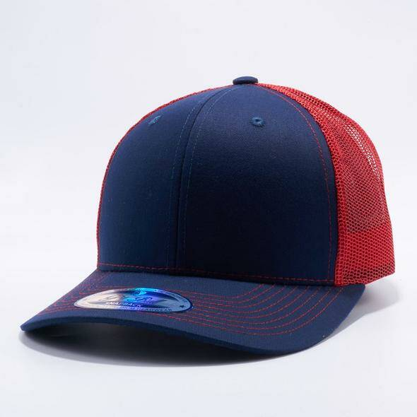 Black and red trucker cap