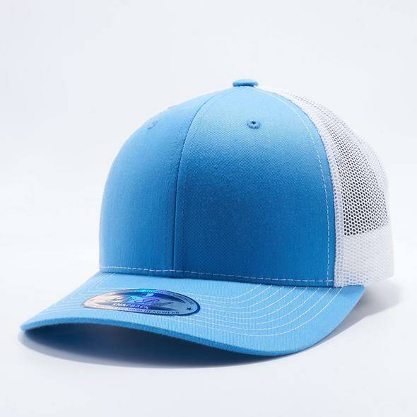 Baby blue and white trucker cap