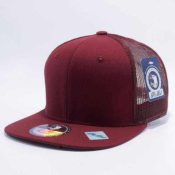 Dark red trucker cap