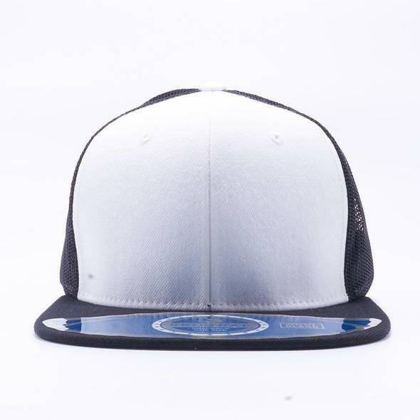 White and black trucker cap