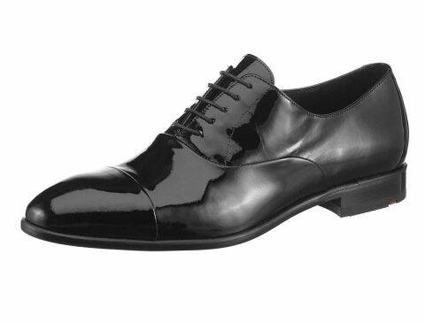 LEATHER LACE-UPS, BLACK BY LLOYD