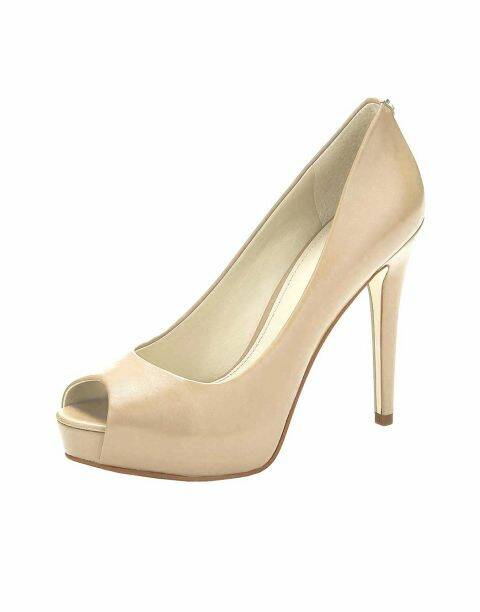 PEEP TOE PUMPS, POWDER FROM GUESS