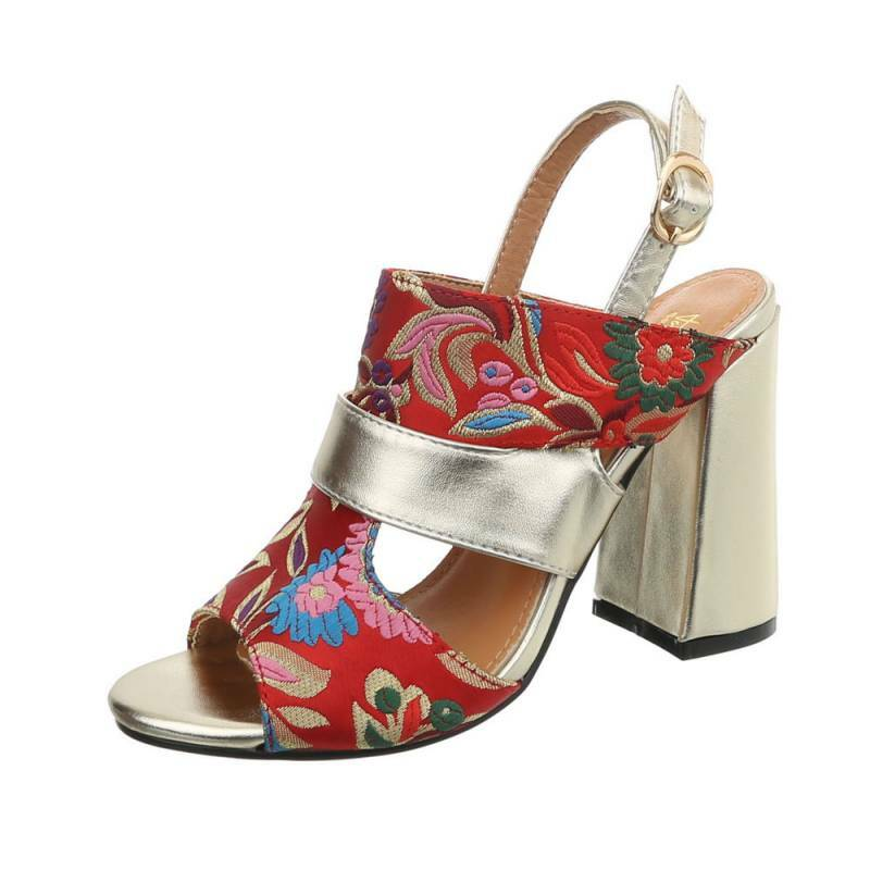 sergio tods red /zilver flower