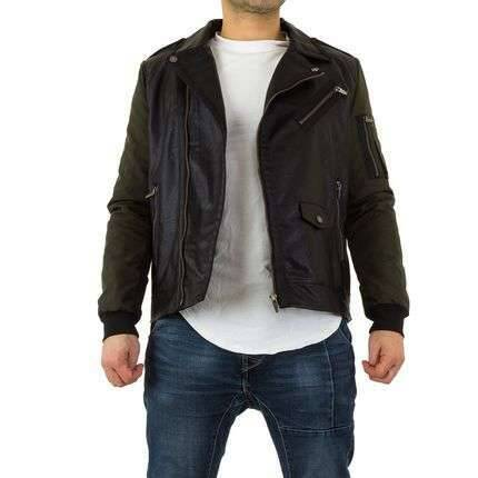 Black combi trendy jacket
