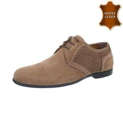 Dark brown men's shoe