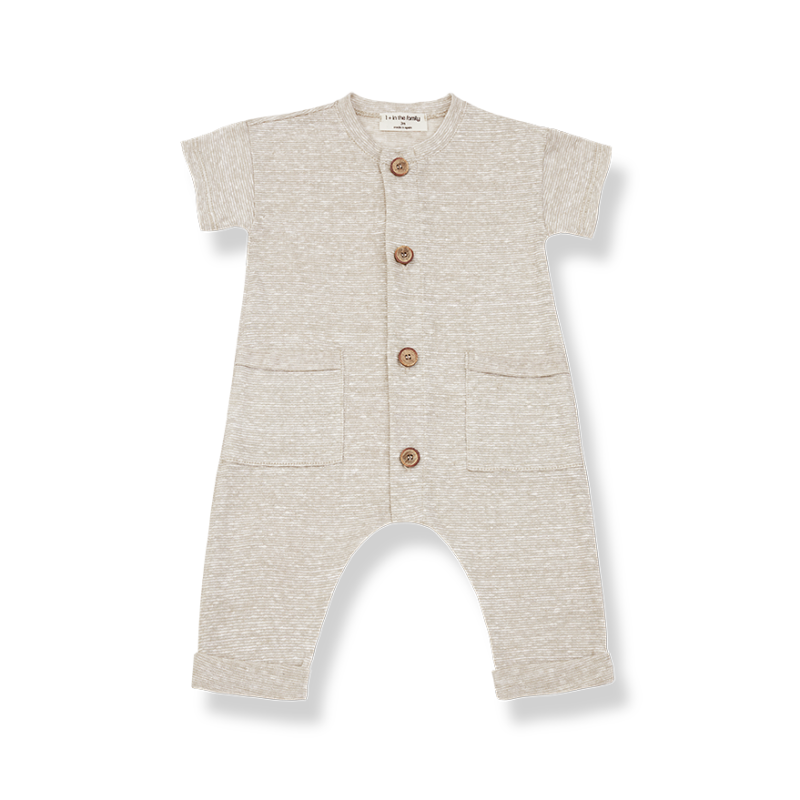 One More in The Family jumpsuit ecru Enzo