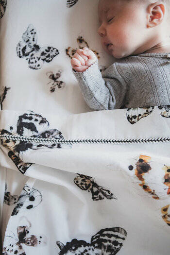 Mies & co toddler bed sheet fika butterfly 100x140