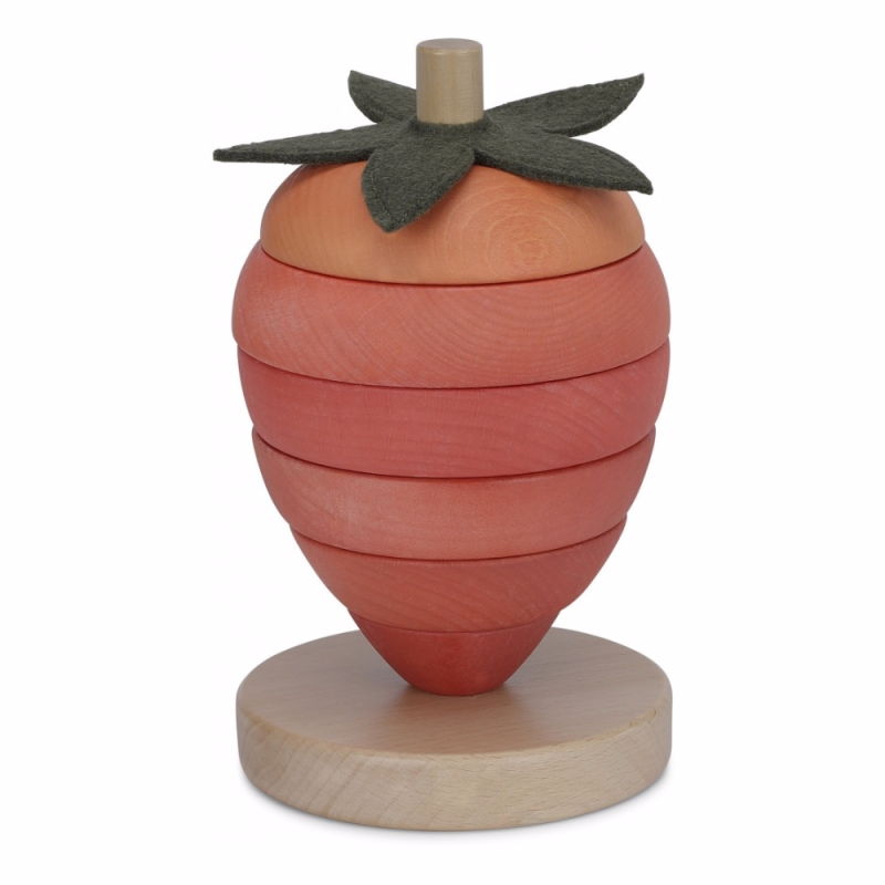 Konges slojd stacking toy strawberry