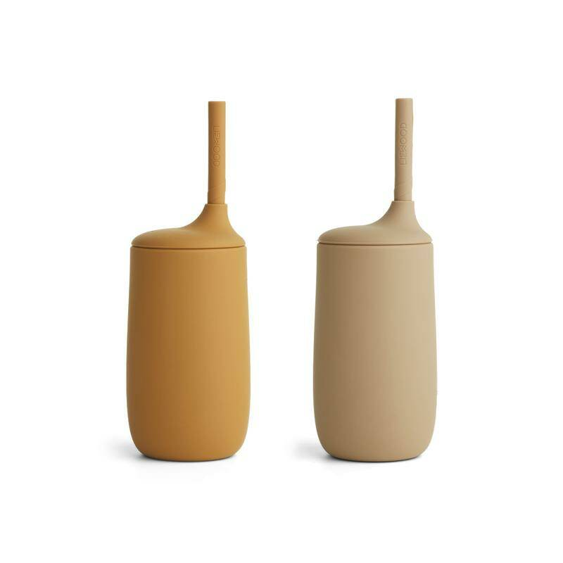 Liewood silicone cup 2-Pack - Golden Caramel Oat Mix