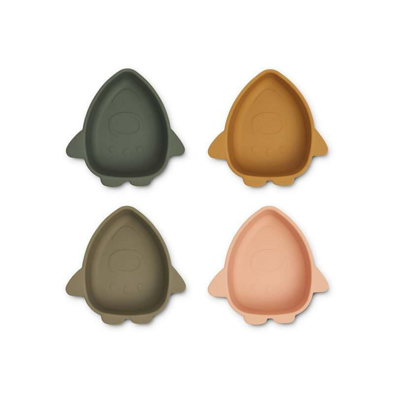 Liewood silicone bowls 4-Pack - Space Multi Mix
