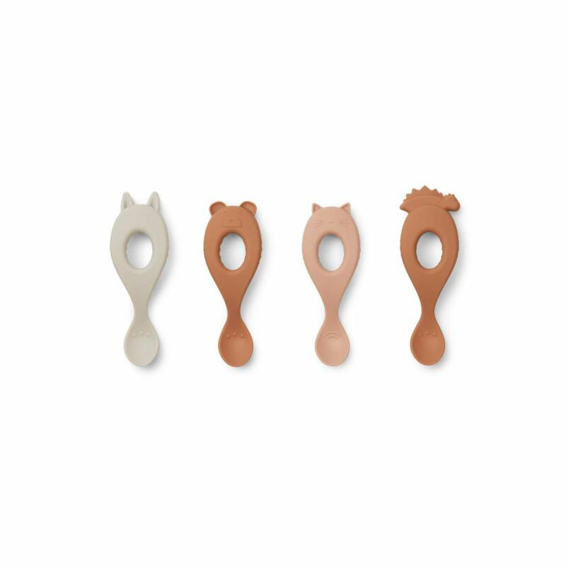 Liewood liva silicone spoon 4-pack rose