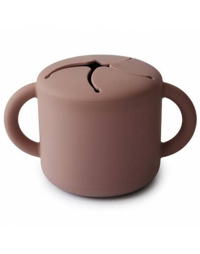 Mushie snack cup claud mauve