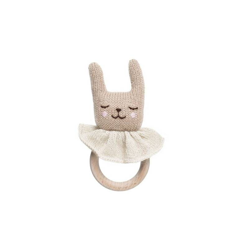 Main sauvage anneau lapin theeting ring