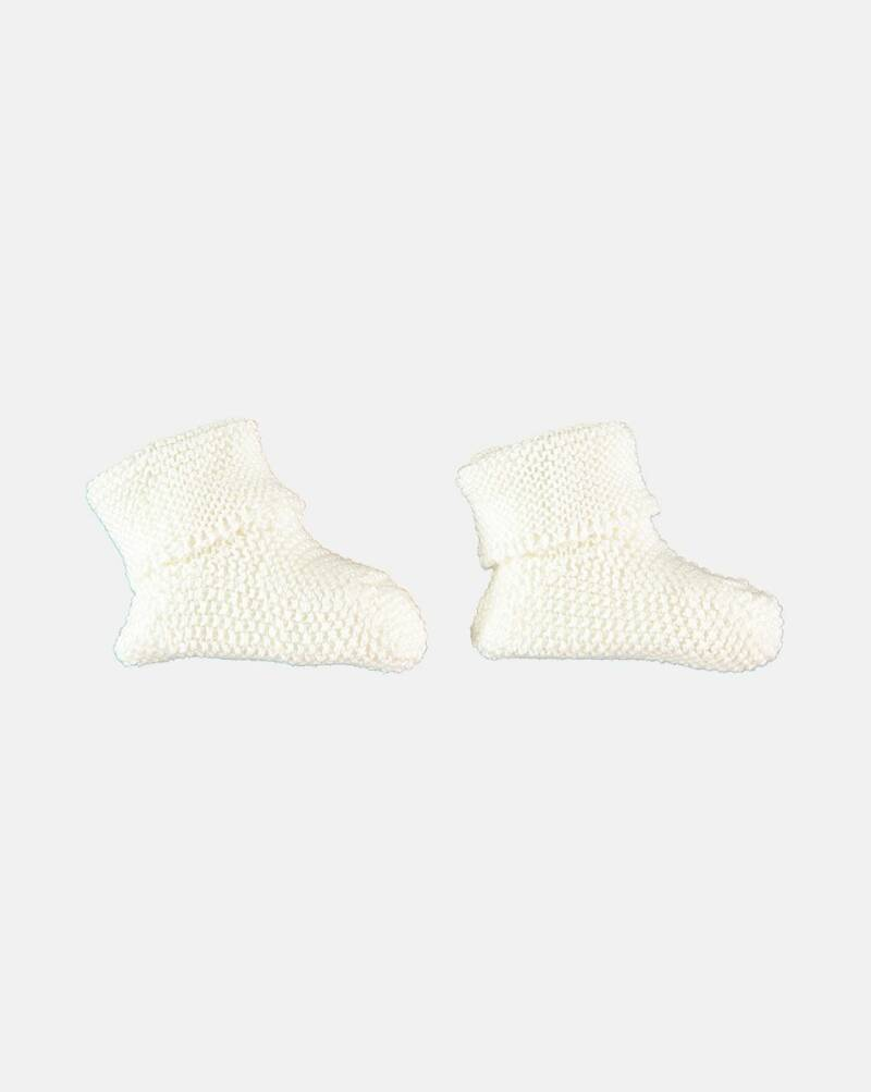Petit oh! knitted booties vanilla