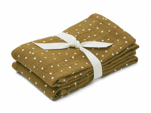 Liewood lewis muslin cloth confetti olive 2 pack