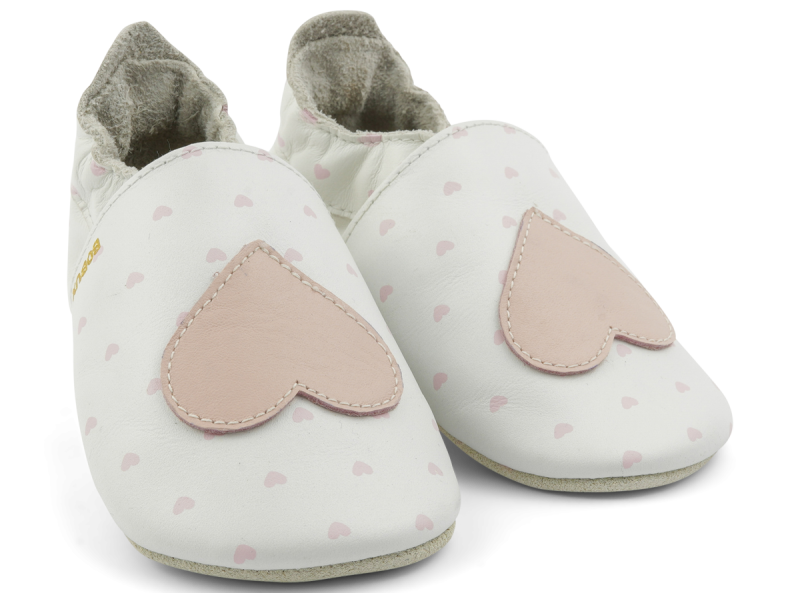 Bobux - Soft Sole - Hearts of blossom - NB (0-3mth)