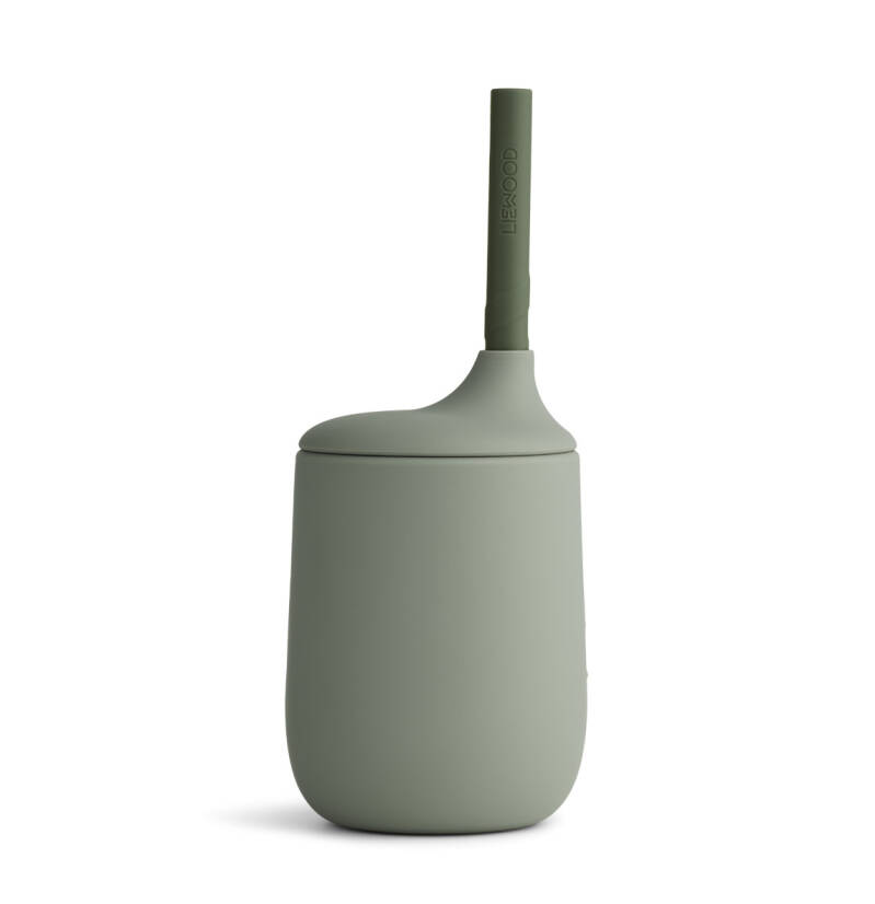 Liewood silicone sippy cup faune green/ hunter green mix