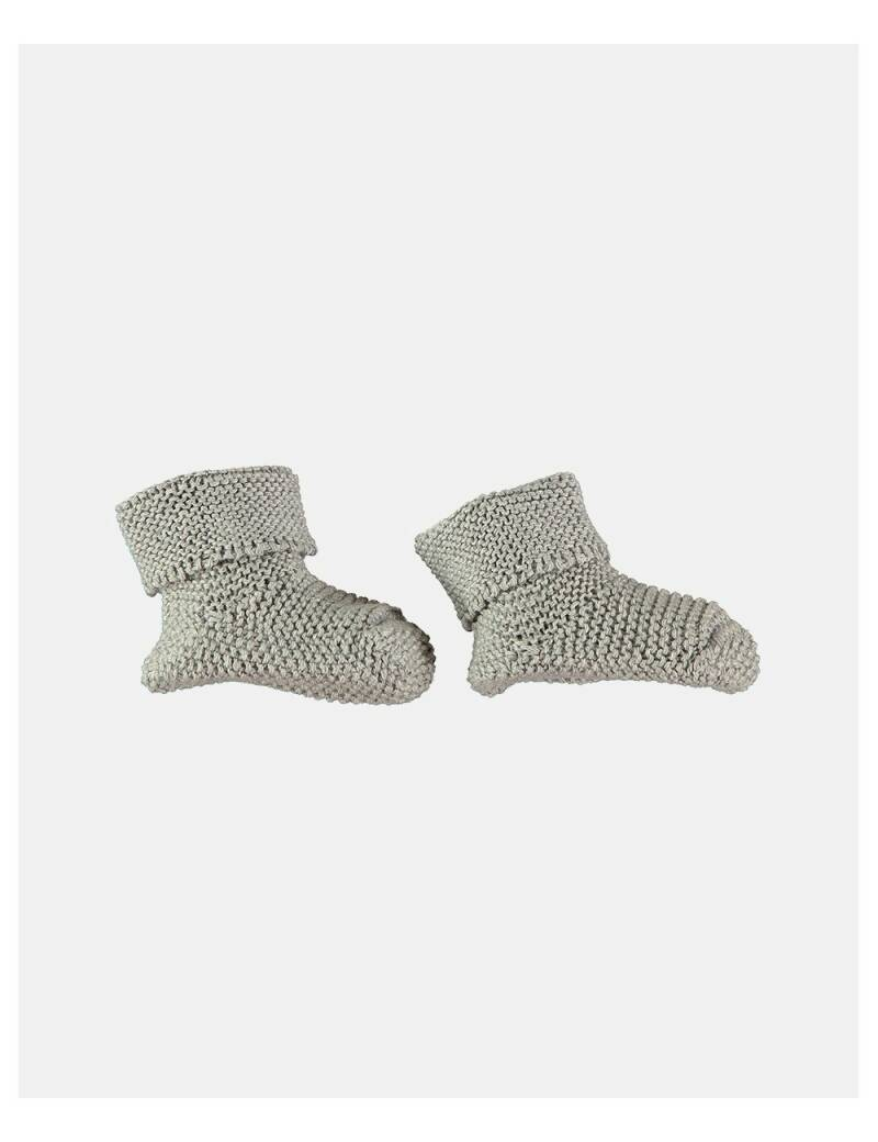 Petit oh! knitted booties grey
