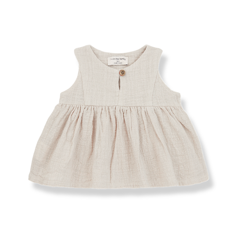 One More In The Family Sleeveless blouse beige Hilda