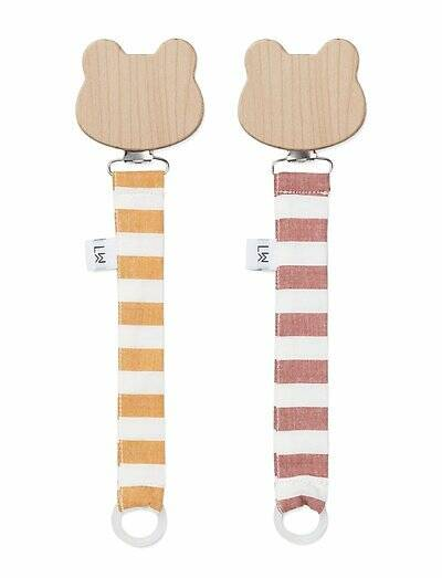 Liewood pacifier strap 2 pack stripe