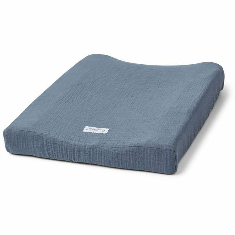 Liewood cliff muslin changing mat cover blue wave