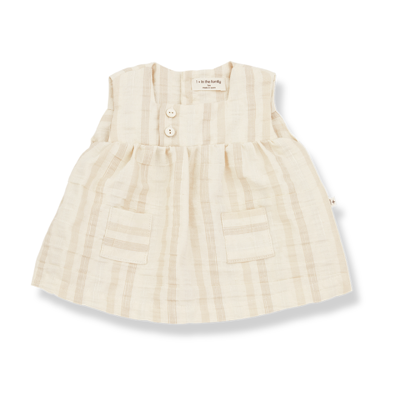 One More In The Family dress naturel silvia
