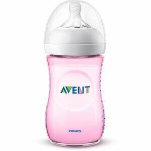 Avent zuigfles natural 260ml roos