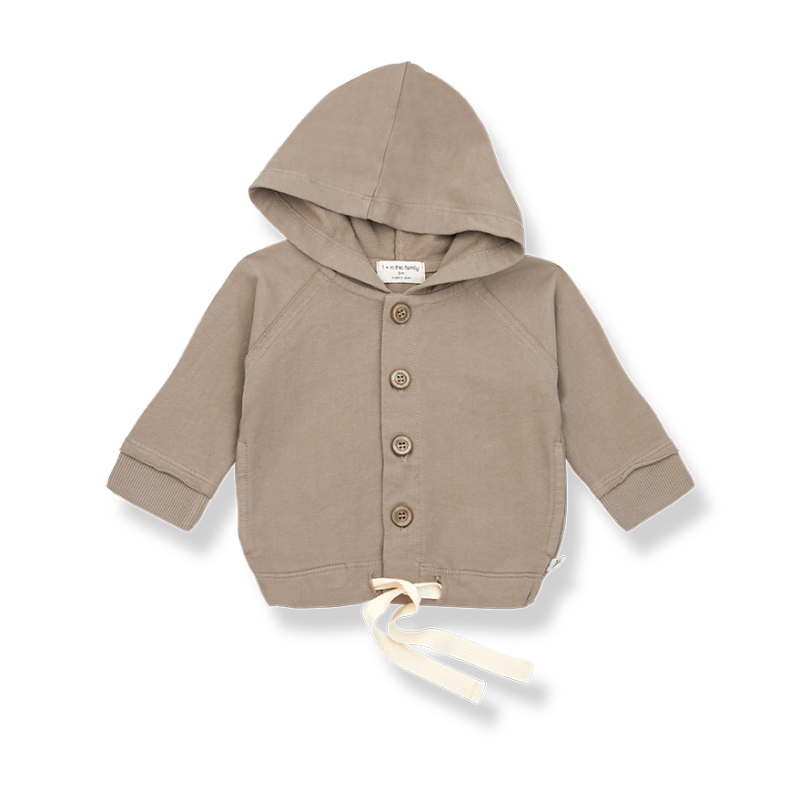 One More In The Family hooded jacket khaki Otto