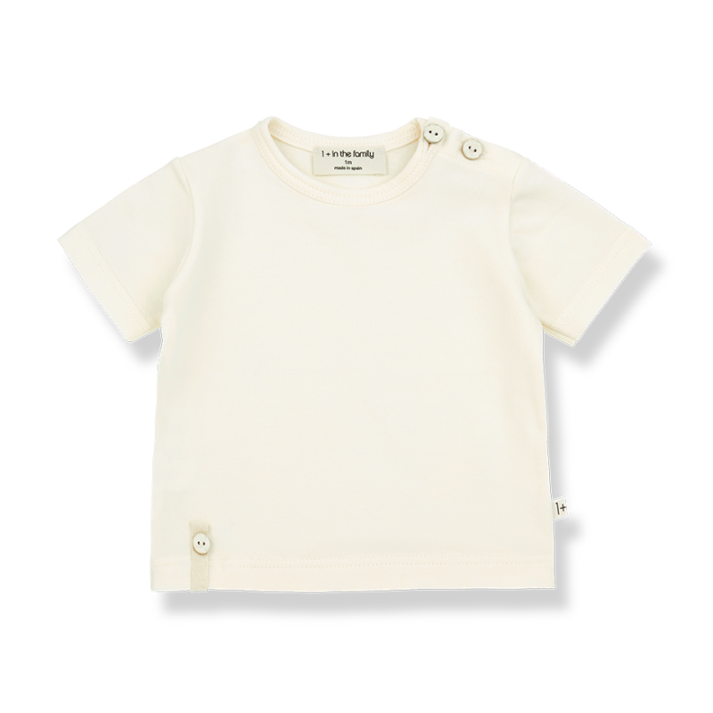 One More In The Family S.sleeve t- shirt ecru Federic