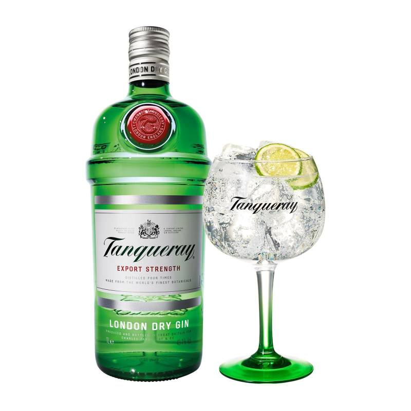 Tanqueray 0,7L & Glas Giftpack