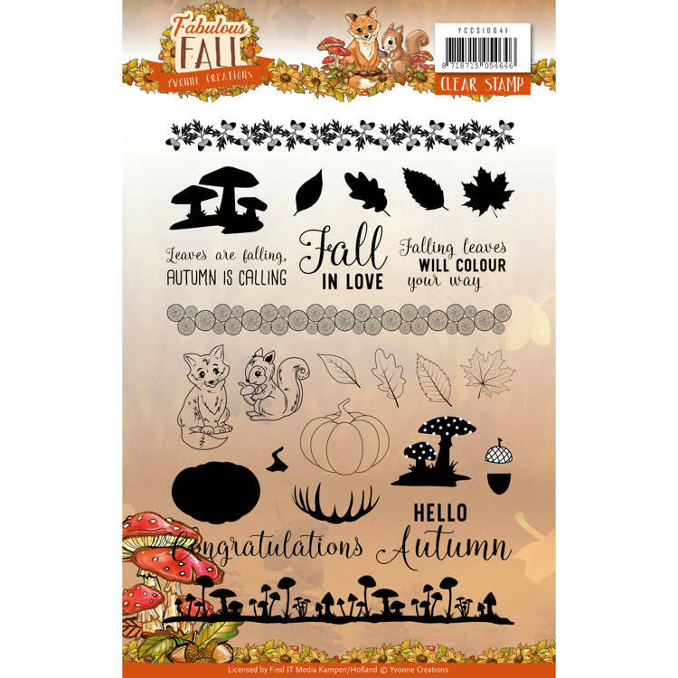 Clear Stamps - Yvonne Creations - Fabulous Fall -  Yvonne Creations