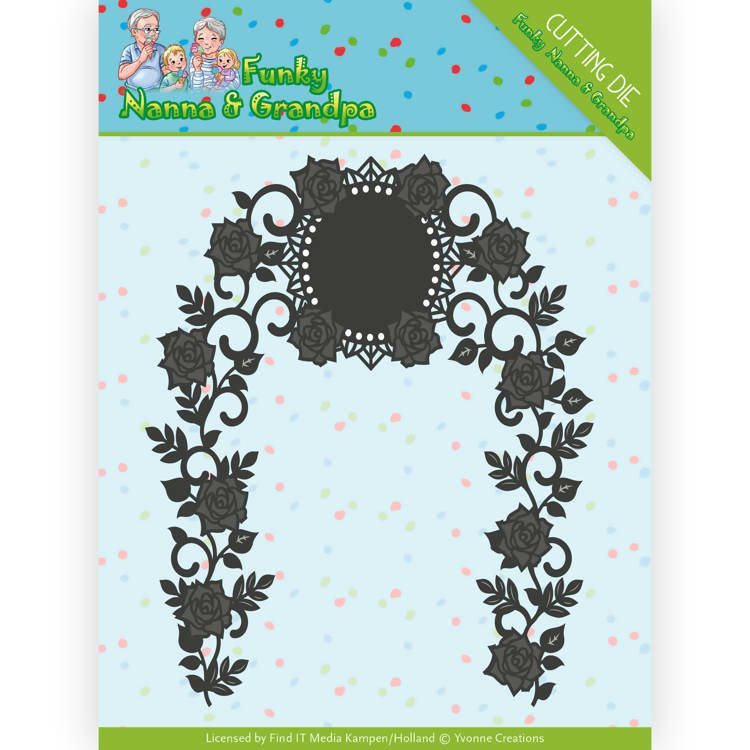 Dies - Yvonne Creations - Funky Nanna's - Floral Arch  Card Deco