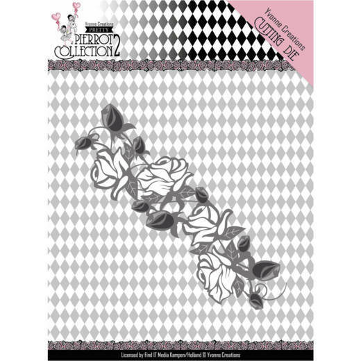 Dies - Yvonne Creations- Pretty Pierrot 2 - Rose Border  Yvonne Creations