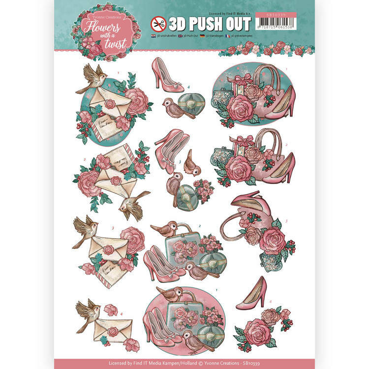 3D Pushout - Yvonne Creations - Flowers with a Twist - Flowers with a Twist