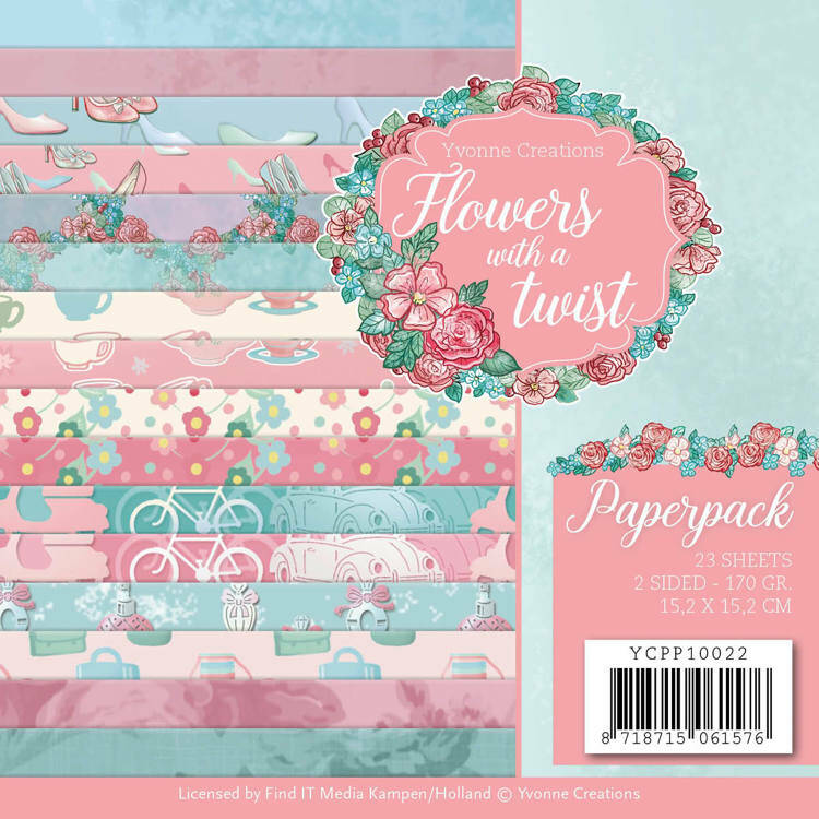 Paperpack - Yvonne Creations - Flowers with a Twist  3D div.