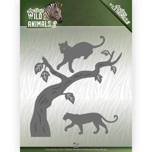 Dies - Amy Design - Wild Animals 2 - Panther  Amy Design