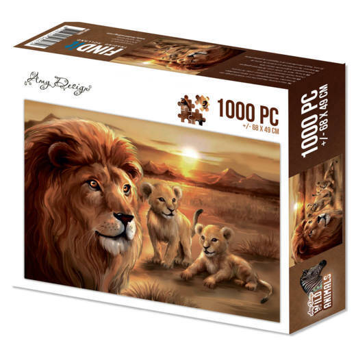 Puzzle 1000 pc - Amy Design - Wild Animals - Lion with cubs  Amy Design