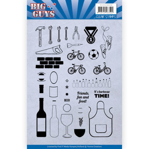 Clear Stamps - Yvonne Creations - Big Guys  3D div.