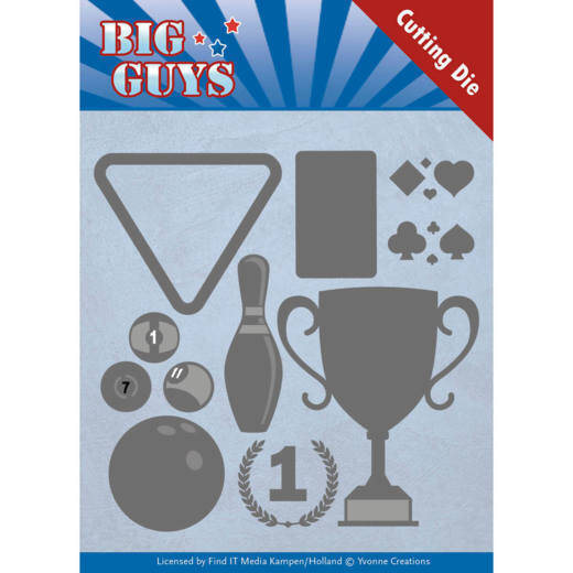 Dies - Yvonne Creations - Big Guys - Play to Win  3D div.