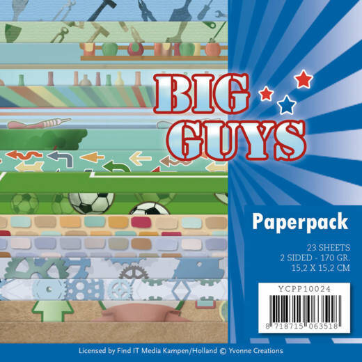 Paperpack - Yvonne Creations- Big Guys  3D div.
